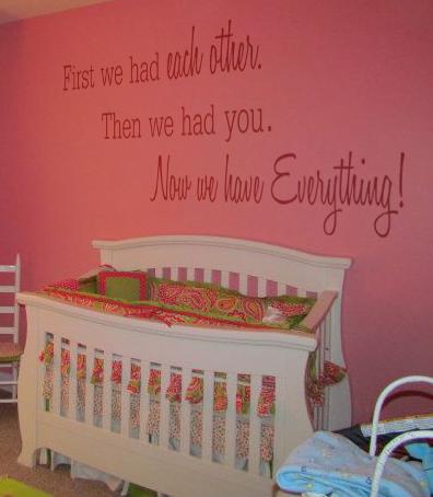 First We Had You Nursery Decal