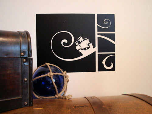 Pirate Wave Wall Decals