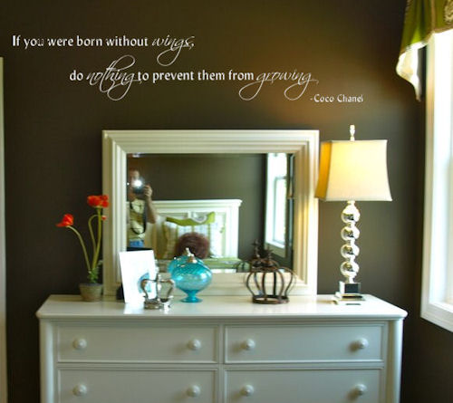 Born Without Wings Wall Decals