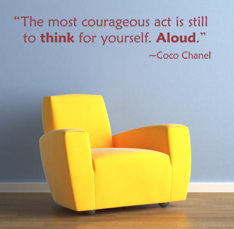 Think For Yourself Aloud Wall Decals