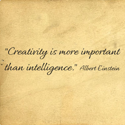 Creativity More Important Intelligence Wall Decals