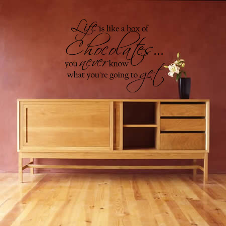 Life is Like a Box of Chocolates Wall Decal