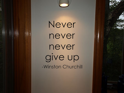 Never Give Up Wall Decal