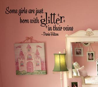 Girls Glitter | Wall Decals