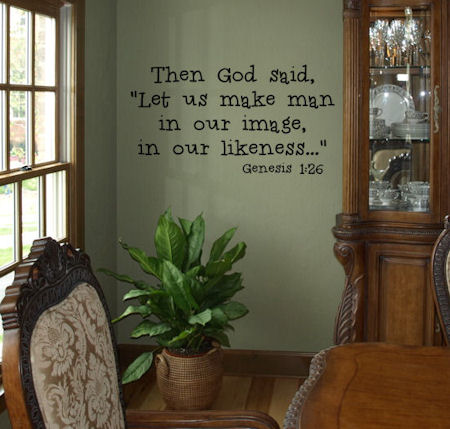 Then God Said Wall Decal
