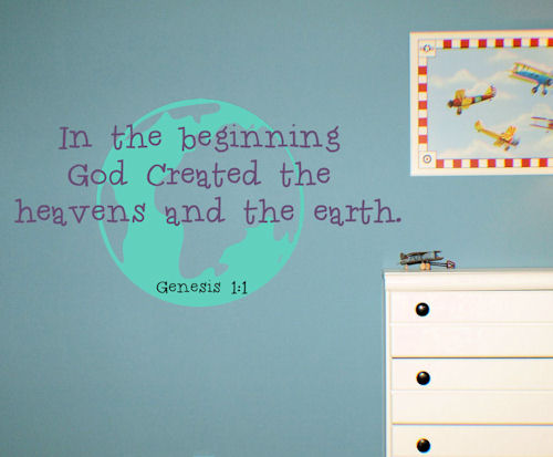 God Created Heaven Earth Wall Decal