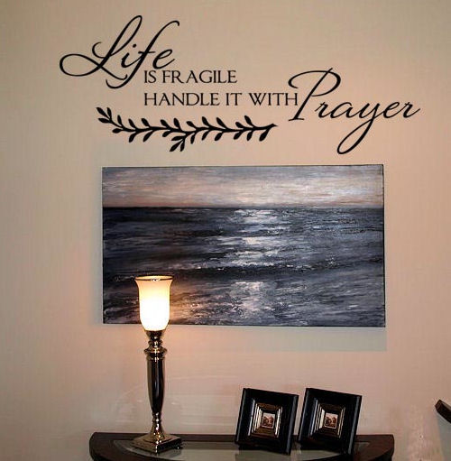 Life is Fragile Wall Decal