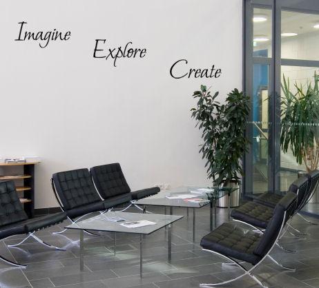 Imagine Explore Create Wall Decal