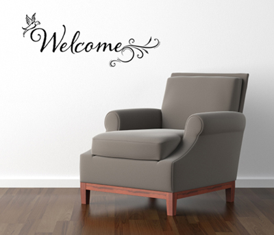 Flirty Welcome Wall Decal