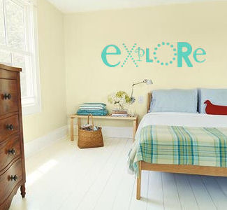 Simply Words Explore Wall Decal