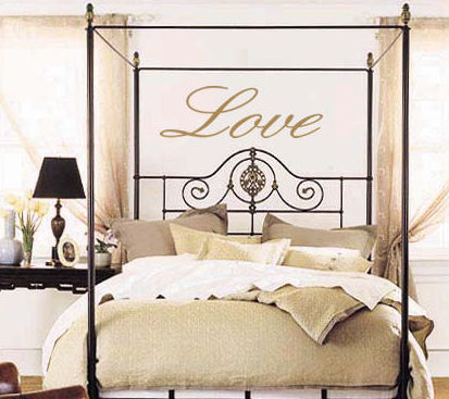 Love Script Wall Decal