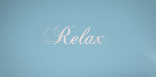 Relax Simply Words Decal