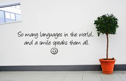 Languages World Smile Speaks Them All Wall Decals