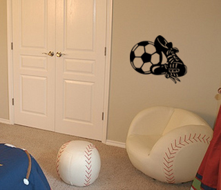Ball Shoes Wall Decal