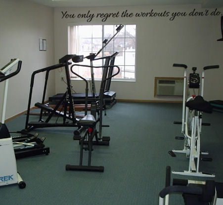 You Only Regret The Workouts Wall Decal