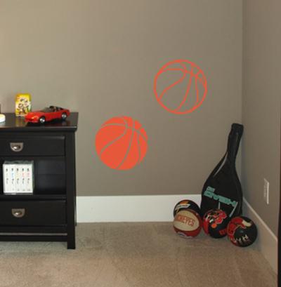 Basketballs Wall Decals
