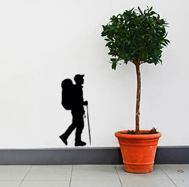 Hiker Wall Decal