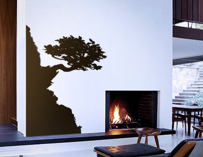 Cliff Side Bonsai Decal