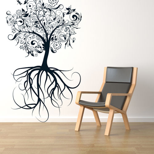 Tree With Roots Giant Wall Decal
