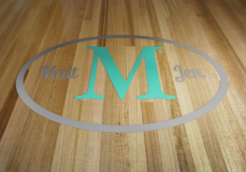 Dance Floor Oval Initial Decal