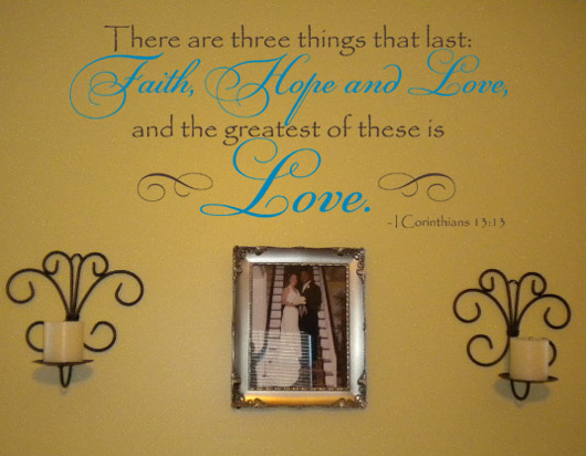 Corinthians Love Wall Decals