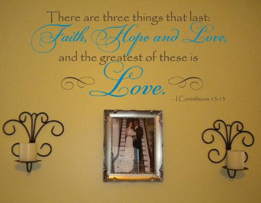 Corinthians Love Wall Decals