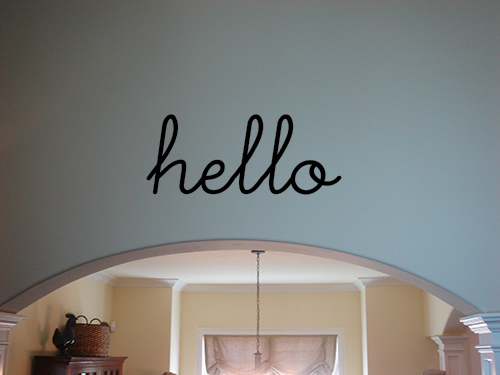 Swoopy Hello Decal