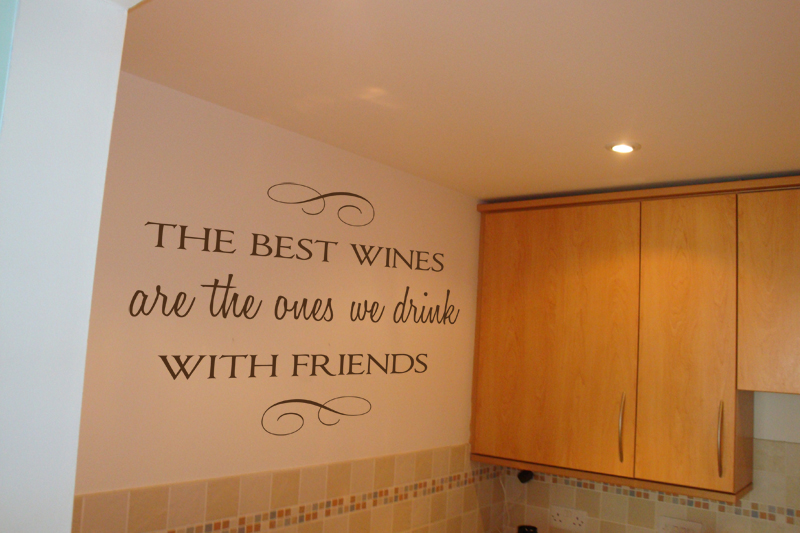 Best Wines With Friends Wall Decal