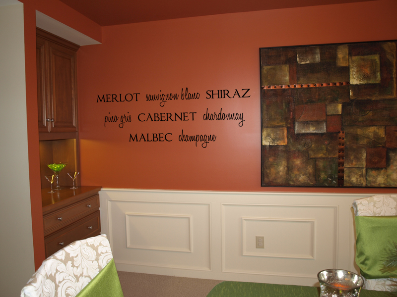 Wine Names Wall Decal