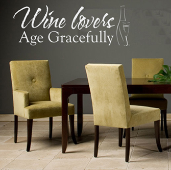 Wine Lovers Wall Decal