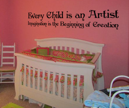 Every Child Is An Artist, Imagination Wall Decal