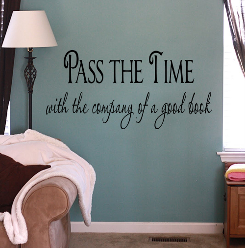 Pass The Time Good Book Wall Decal