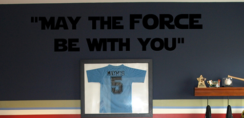 May The Force Wall Decal