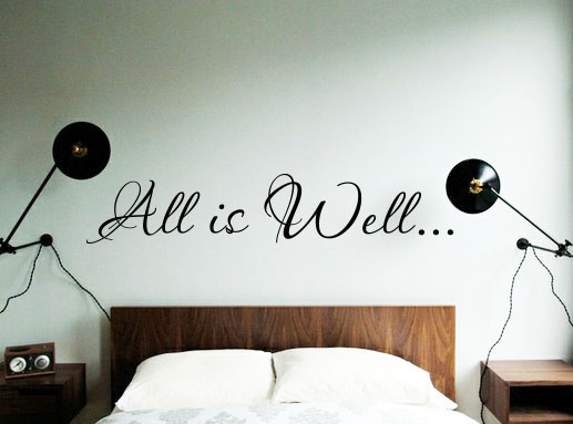 All is Well   Wall Decals