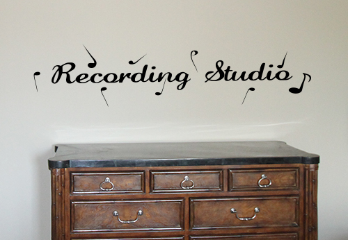 Recording Studio Wall Decal