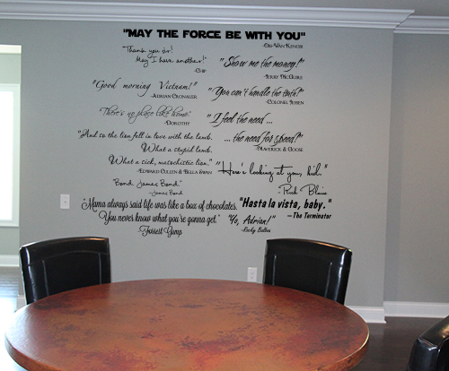 Movie Quotes Wall Decal