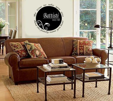 Family Name Circle Wall Decal