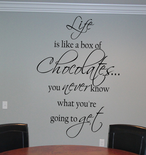 Life Box Chocolates You Never Know Wall Decal