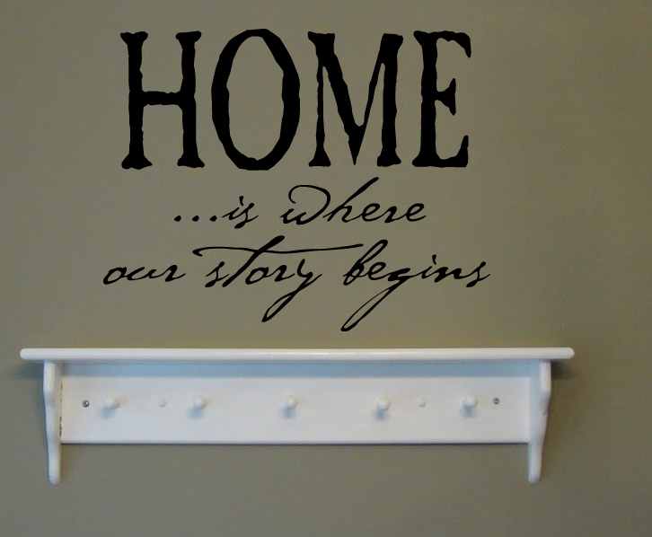 Home Story Begins Wall Decal