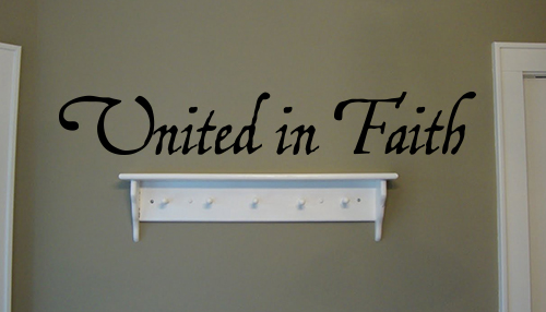 United In Faith Wall Decals