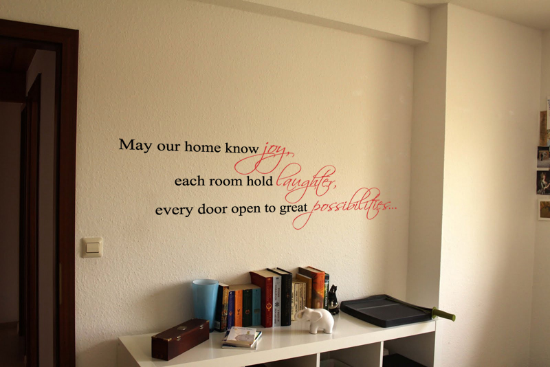 May Our Home Know Joy Laughter Possibilities Wall Decal