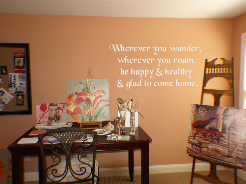 Wherever You Wonder Roam Wall Decal