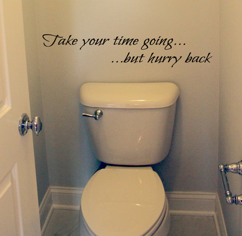 Take Time Going Hurry Back Wall Decal