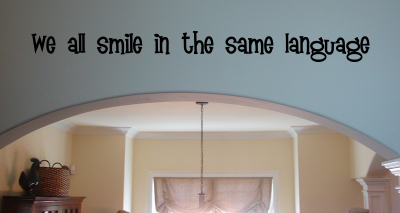 All Smile Same Language Wall Decal