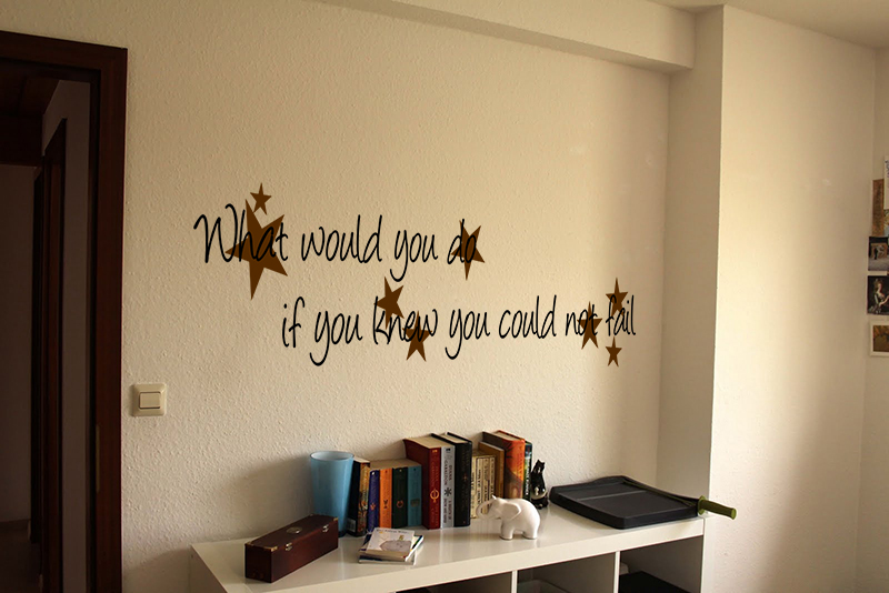 If You Could Not Fail Wall Decal