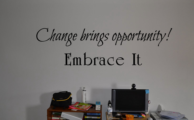 Changes Brings Opportunity Wall Decals