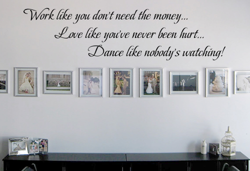 Work Live Love Dance Wall Decal