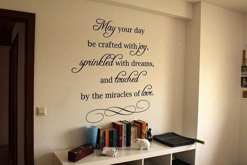 May Your Day Be Crafted Wall Decals
