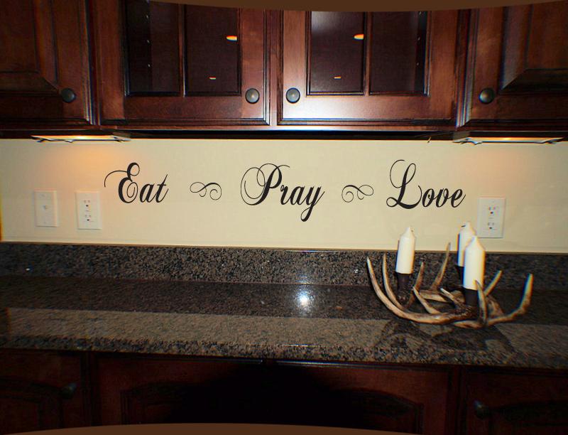 Script Eat Pray Love Wall Decal