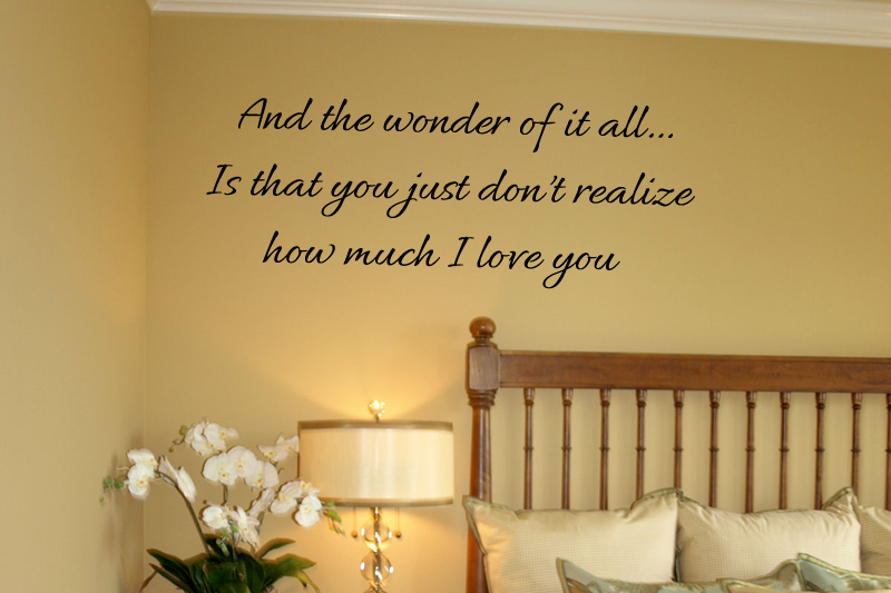 Don't Realize I Love You Wall Decal